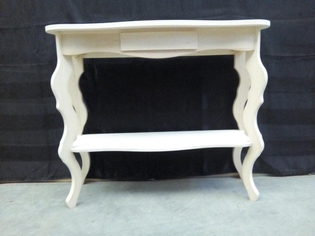 Consolle tavolino ingresso legno massello 1 cassetto ...