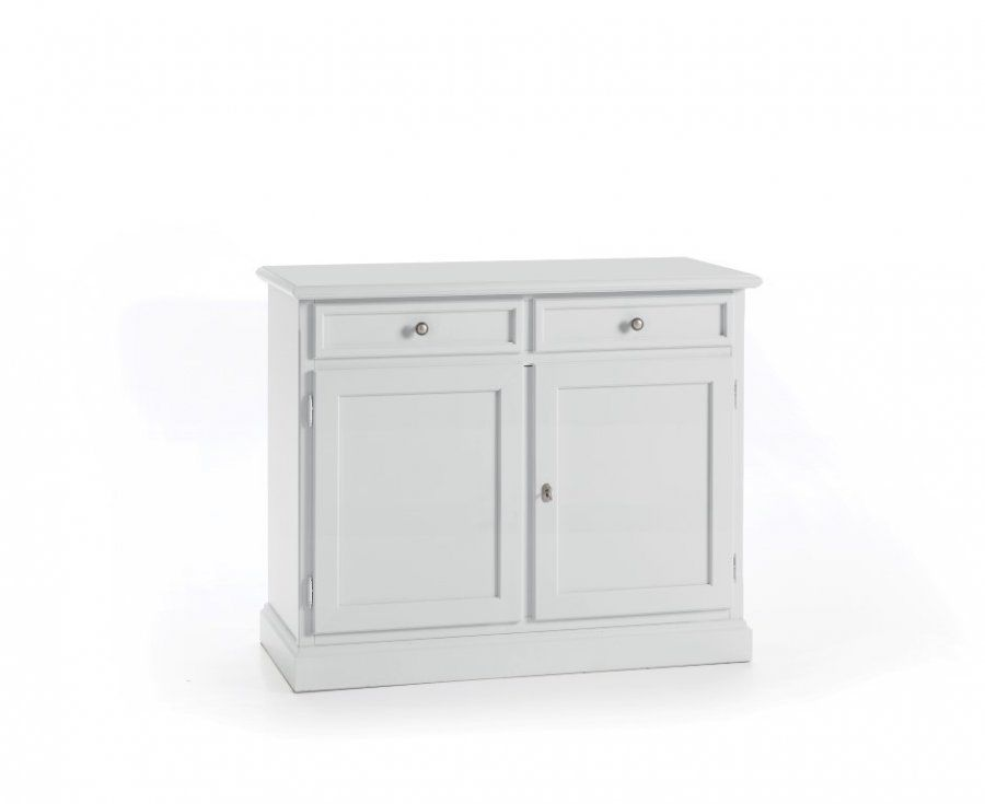 Credenza Moderna 2 Ante : Credenza madia 2 ante e cassetti legno bianca classica moderna