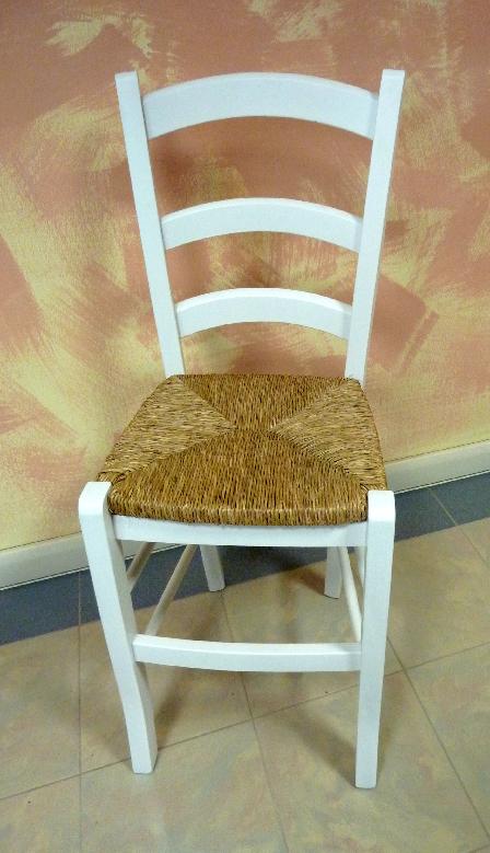 Sedia in legno massello bianca cucina taverna bar sala da for Sedia bianca cucina