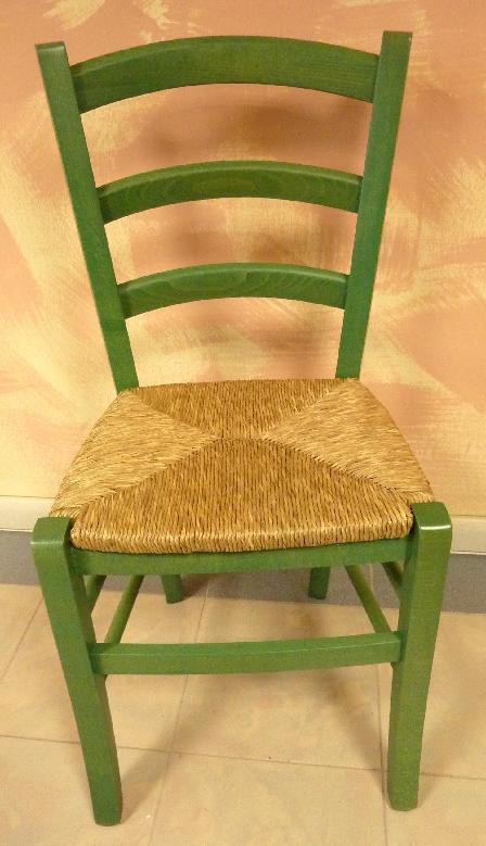 Sedia in legno massello e paglia per cucina sala da pranzo for Sedie da cucina in legno e paglia