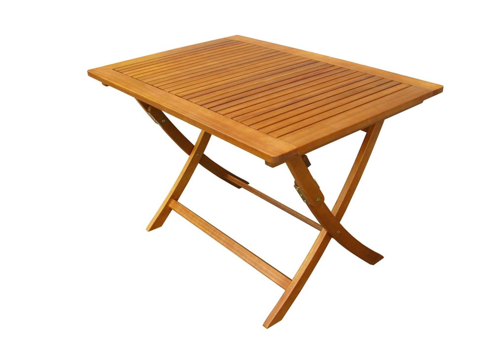 Tavolo pieghevole esterno giardino in legno di acacia massiccio - Tavolo giardino pieghevole ...