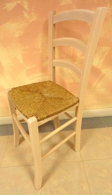 Sedia Per Sala Da Pranzo Cucina Bar Legno Massello Beige